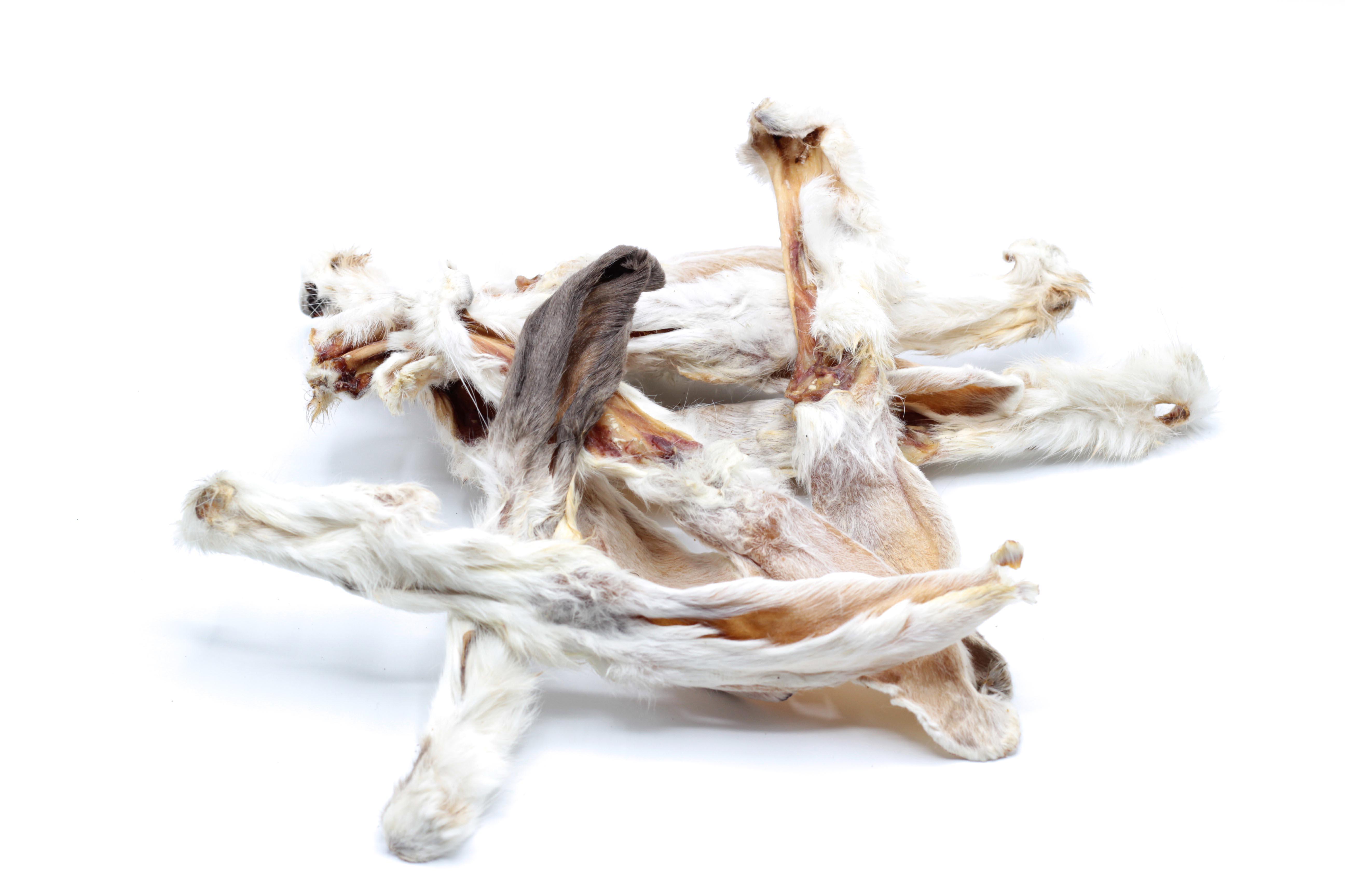 Kaninchenohren mit Fell 1kg